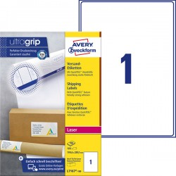 Białe etykiety wysyłkowe Avery Zweckform A4, 100 ark./op., 199,6 x 289,1 mm