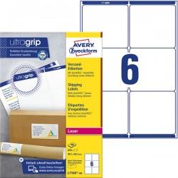 Białe etykiety wysyłkowe Avery Zweckform A4, 100 ark./op., 99,1 x 93,1 mm