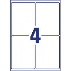 Etykiety Heavy Duty Avery Zweckform A4, 20 ark./op., 99,1 x 139 mm, białe, poliestrowe - USUWALNE