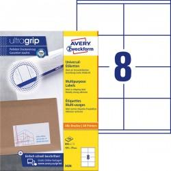 TrwaナF etykiety uniwersalne Avery Zweckform A4, 100 ark./op., 105 x 70 mm, biaナF