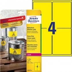 Etykiety Heavy Duty Avery Zweckform A4, 8 ark./op., 99,1 x 139 mm, ナシテウナUe, poliestrowe