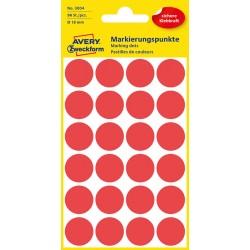 Kolorowe kółka do zaznaczania Avery Zweckform 96 etyk./op., Ø18 mm, czerwone