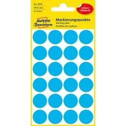 Kolorowe kółka do zaznaczania Avery Zweckform 96 etyk./op., Ø18 mm, niebieskie
