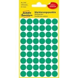 Kolorowe kółka do zaznaczania Avery Zweckform 270 etyk./op., Ø12 mm, zielone