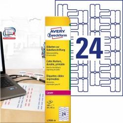 Etykiety do oznaczania kabli Avery Zweckform A4, 20 ark/op., 60 x 40 mm, biaナF