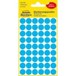 Kolorowe kółka do zaznaczania Avery Zweckform 270 etyk./op., Ø12 mm, niebieskie