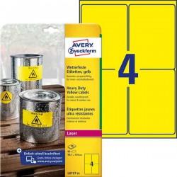 Etykiety Heavy Duty Avery Zweckform A4, 20 ark./op., 99,1 x 139 mm, ナシテウナUe, poliestrowe
