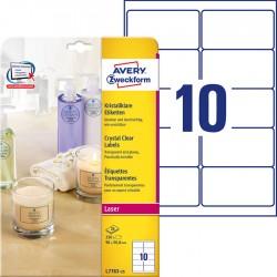 Etykiety przezroczyste Crystal Clear Avery Zweckform A4, 25 ark./op., 96 x 50,8 mm