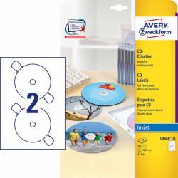 Etykiety na pナZty CD Avery Zweckform A4, 25 ark./op., テク117 mm, bナZszczト�ce