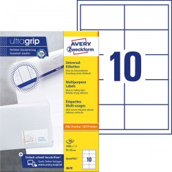 Trwałe etykiety uniwersalne Avery Zweckform A4, 100 ark./op., 97 x 55 mm, białe