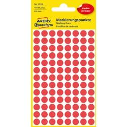 Usuwalne, kolorowe kテウナLa do zaznaczania Avery Zweckform 416 etyk./op., テ�8 mm, czerwone