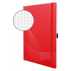 Notatnik Notizio A4 oprawa miękka czerwony kratka 80 kartek Avery Zweckform