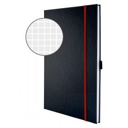 Notatnik Notizio A4 oprawa twarda ciemnoszary kratka 80 kartek