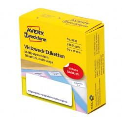 Białe minietykiety w dyspenserach do opisywania ręcznego 250 etyk./op., 50 x 19 mm, Avery Zweckform