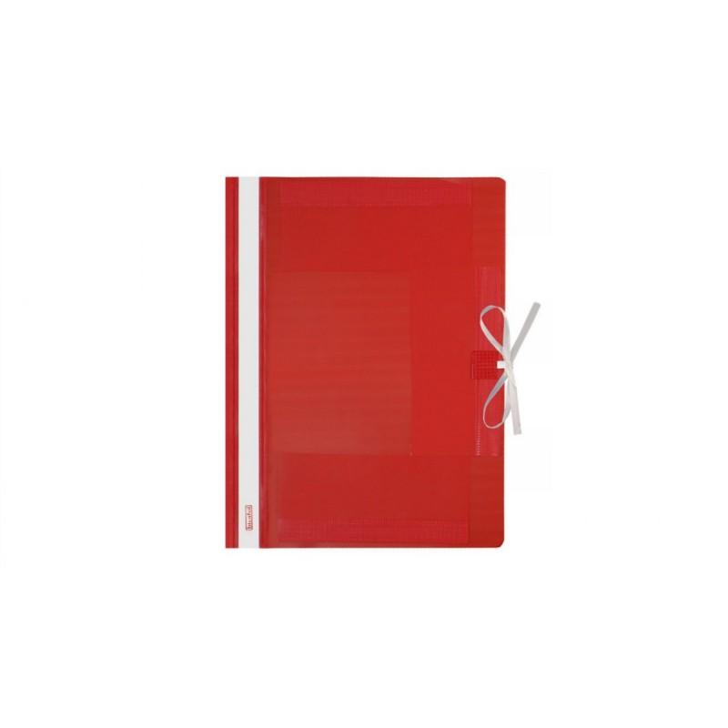 Teczka wiト�zana A4 plastikowa Biurfol czerwona