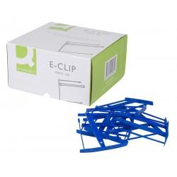 Klips archiwizacyjny Q-onnect e-clip niebieski op. 100 szt.