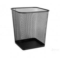Kosz na śmieci kwadratowy 18 litrów, czarny