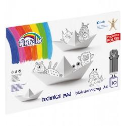 Blok techniczny Fiorello A4/10 kartek