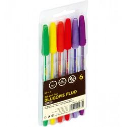Długopis Grand fluo 6 kolorów GR-91