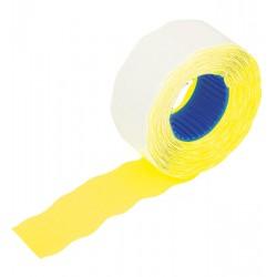 Etykiety do cen 2612-800 żółte faliste