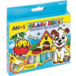 Farby witraナシowe AMOS GD10P10 8211 10,5ml x 10 kolorテウw