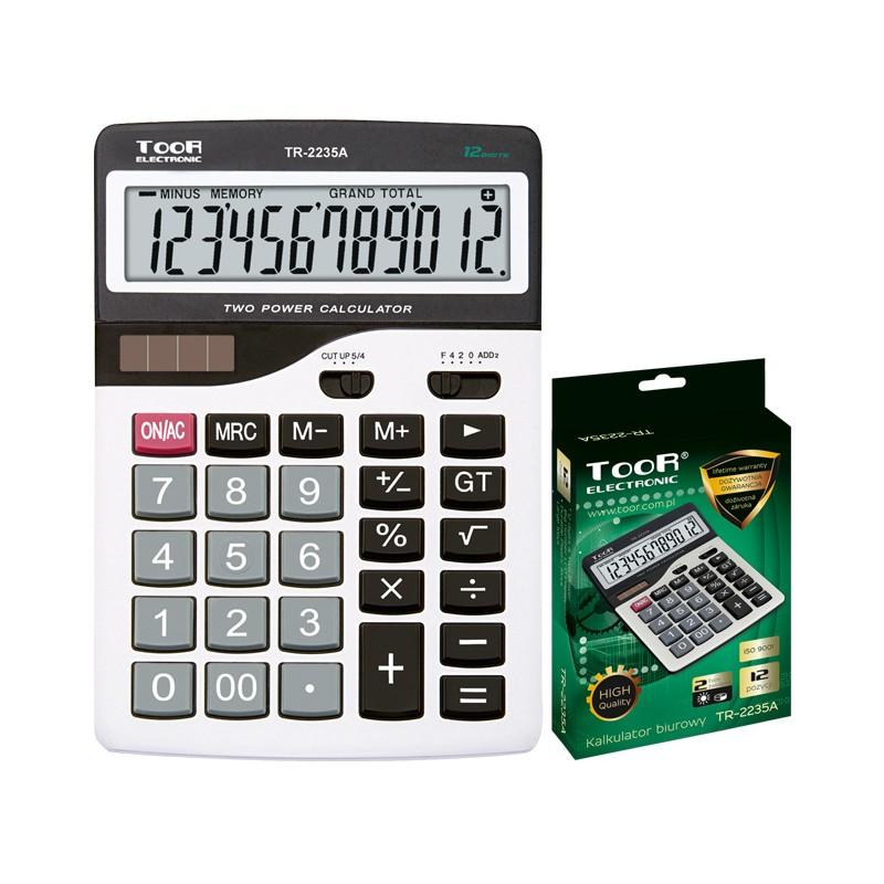 Kalkulator biurowy TOOR TR-2235A-W 12-pozycyjny