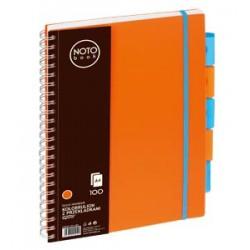 Kołobrulion Grand NOTObook A4 100 pomarańczowy kratka