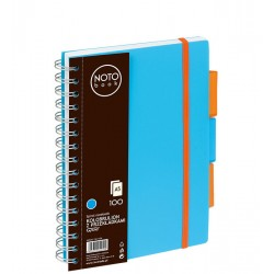Kołobrulion Grand NOTObook A5 100 niebieski kratka
