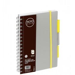Kołobrulion Grand NOTObook A5 100 szary kratka