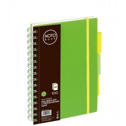 Kołobrulion Grand NOTObook A5 100 zielony kratka