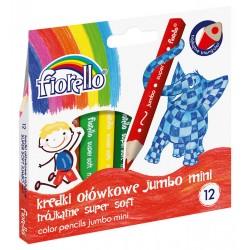Kredki FIORELLO Super Soft 12 kol. ostrz. trójkątna MINI Jumbo