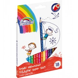 Kredki FIORELLO Super Soft 18 kol. ostrz. trójkątna