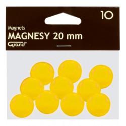 Magnes 20mm GRAND żółty