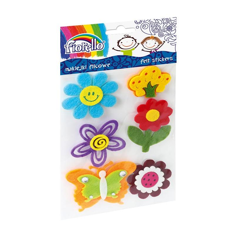 Naklejki filcowe Fiorello GR-NP332 kwiaty_motyl