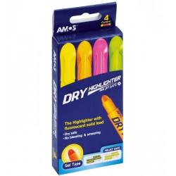 Zakreślacz w sztyfcie AMOS HLD4P 8211 4 kolory