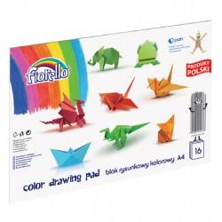 Blok rysunkowy kolorowy FIORELLO A4/16 kartek