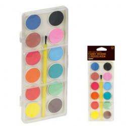 Farby wodne GRAND 12 kolorテウw zestaw ekonomiczny