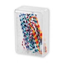 Spinacze biurowe Colorplus 50mm 12 szt okrągłe zebra mix kolorów