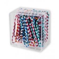Spinacze biurowe Colorplus 50mm 30 szt okrągłe zebra mix kolorów