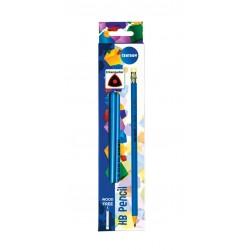 Ołówek Centrum HB z gumką 12szt.
