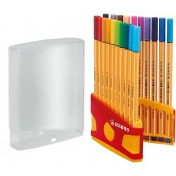 Stabilo point 88 ColorParade pudełko 20 szt. (czerwono-pomarańczowe)