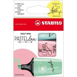 Stabilo BOSS MINI Pastellove 3 szt. etui mix kolorów