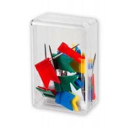 Pinezki flagi tablicowe Victory Office 20 szt. mix kolorテウw pojemnik plastikowy
