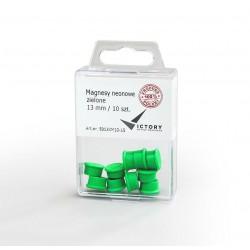 Magnesy Victory Office 13mm 10 szt. neonowe zielone