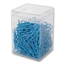 Spinacze biurowe Victory Office 28mm 300 szt. okrト�gナF pastelowe jasnoniebieskie pojemnik plastikowy
