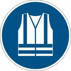 Znacznik podナPgowy - symbol 窶朶tosuj kamizelkト� ochronnト�窶�