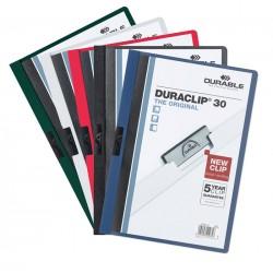 DURACLIP Original 30, skoroszyt zaciskowy A4, 1-30 kartek