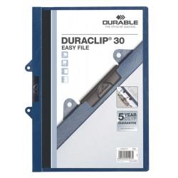 DURACLIP Original 30, skoroszyt zaciskowy A4, 1-30 kart. z wkナBdkト� do wpiト冂ia