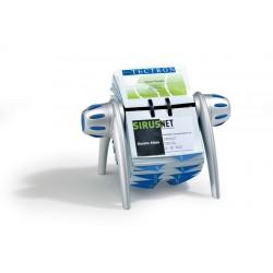 VISIFIX flip, wizytownik obrotowy na 400 wizytówek, z przekładk.