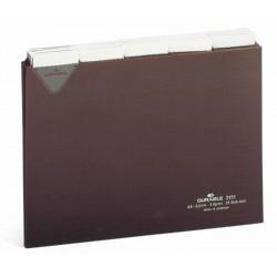 PrzekナBdki A5 poziom 5/5 do kartoteki z twardego PCW 0,3mm z wsuwanymi indeksami 40 mm